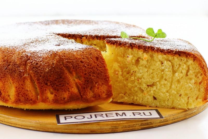 Бисквит на кефире в мультиварке пошаговый рецепт с