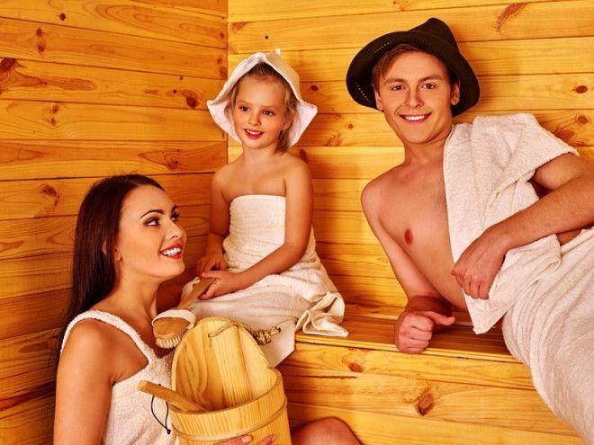 польза бани для детей