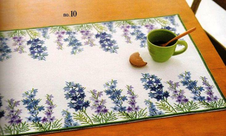 Красивые схемы для всех, кто любит вышивку крестом и цветы