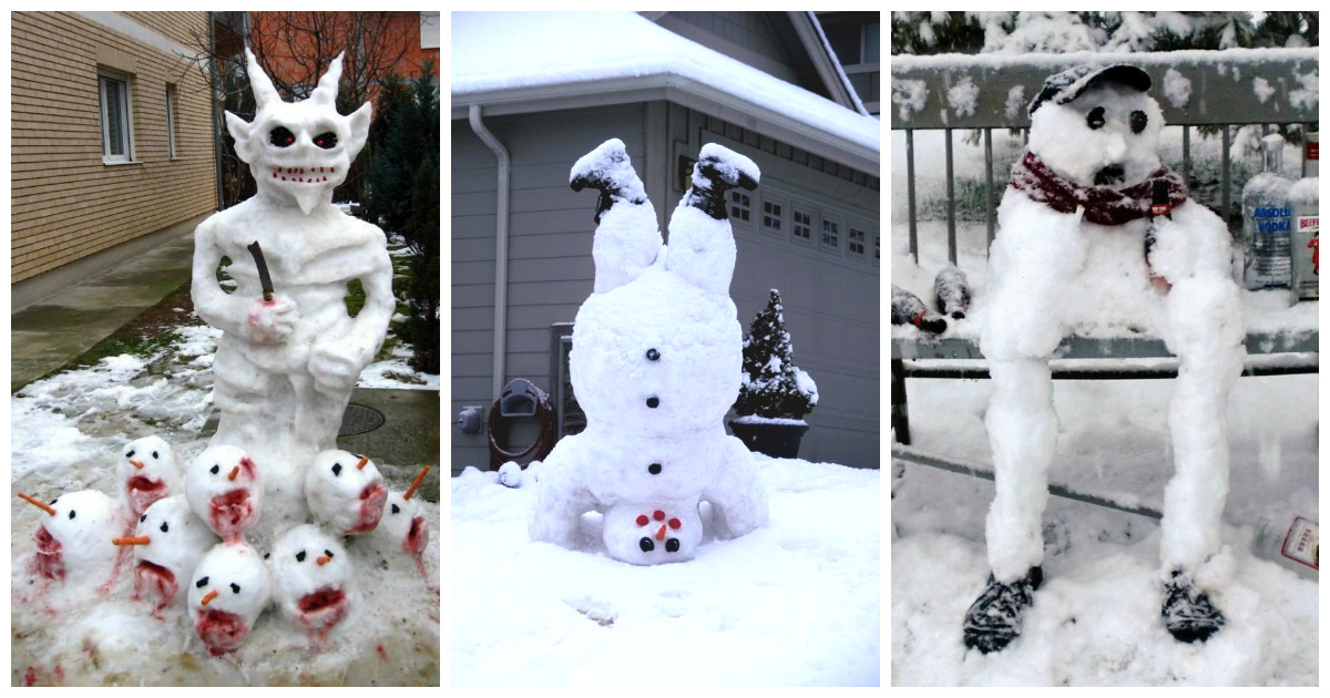 Снеговики и творчество)