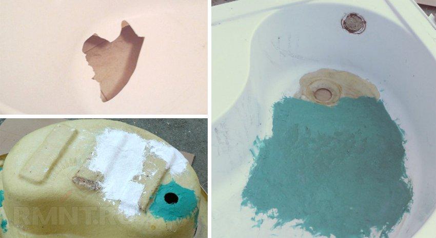 Ремонт акриловой ванны в домашних условиях своими руками