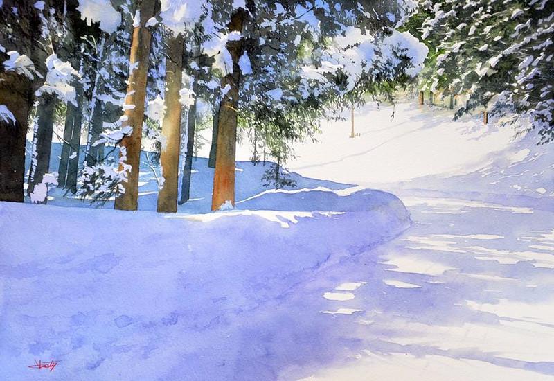 Живопись в зимней тематике