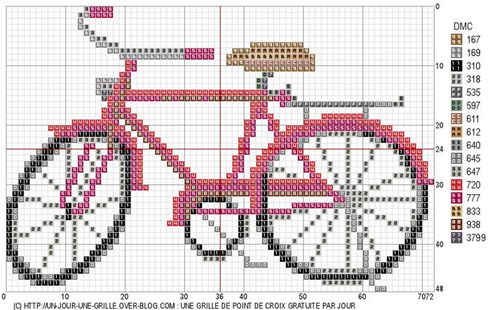 Вышиваем велосипед. Идеи со схемами (1) (700x442, 243Kb)