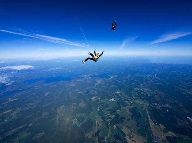 Экстремальные фотографии, сделанные во время прыжков с парашютом