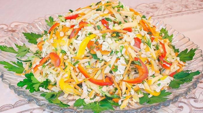 Постный салат с пекинской капустой «Весеннее настроение»