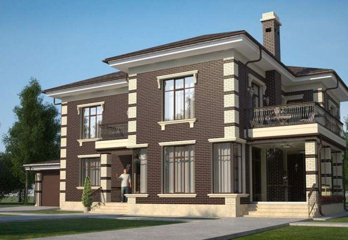 Дизайн коттеджей фасадов