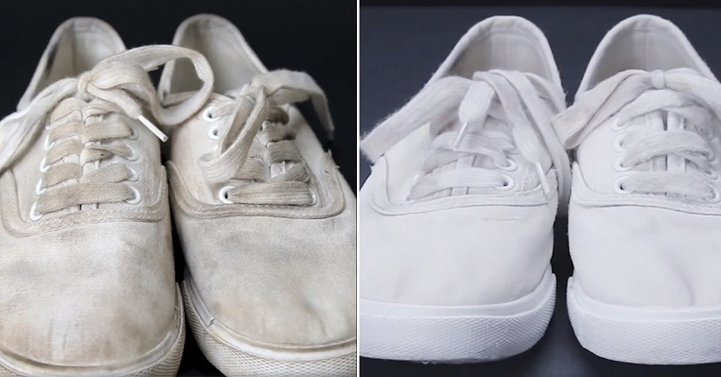 Трюк для очищения обуви без …