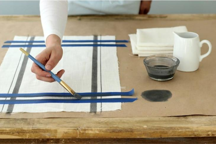 Декор кухонного полотенца своими руками краской