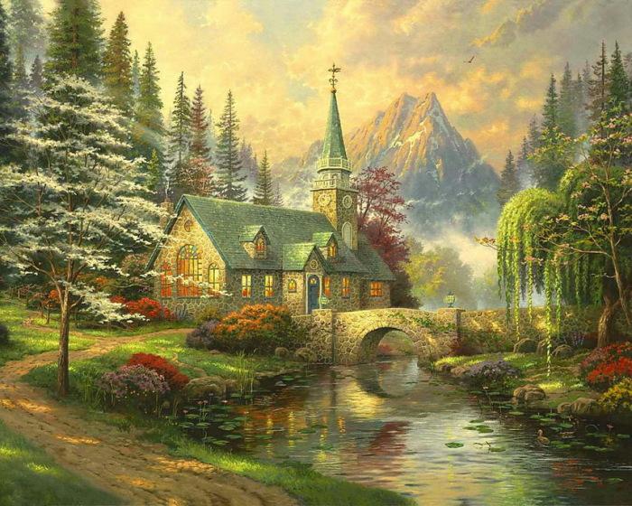 Дом, милый дом. Автор: Thomas Kinkade.