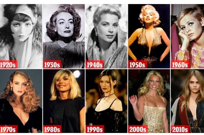 От высокого напряжения голливудского гламура к дискотеке: Как менялось западная красота