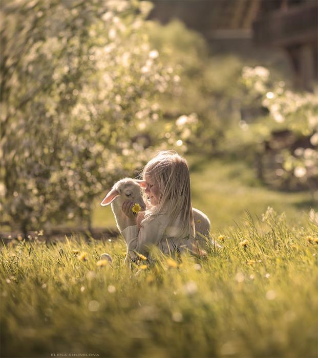 Ребята и зверята:12 искренних фотографий, на которых запечатлены дети и их четвероногие друзья
