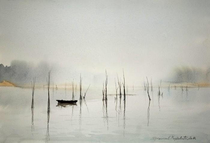 акварель пейзажи Branislav Marković Umbra - 01