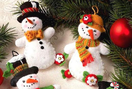 50 новогодних снеговиков – идеи и мастер классы