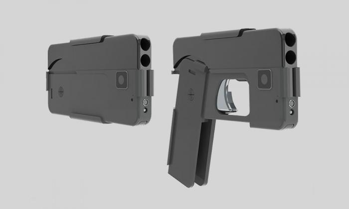9-миллиметровый пистолет- смартфон