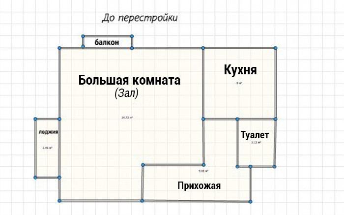 Переделка однокомнатной квартиры в двушку