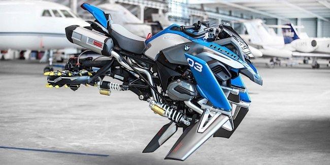 Летающий мотоцикл - концепт от BMW Motorrad и Lego
