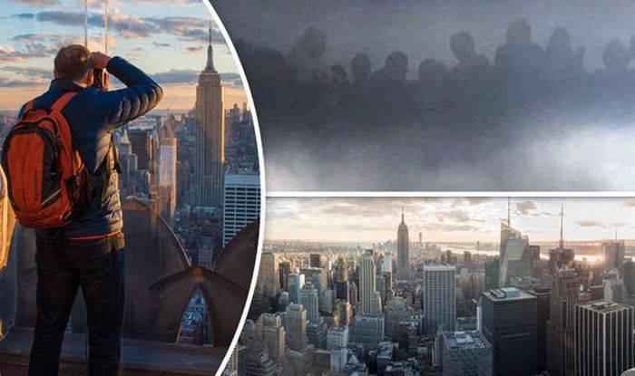 Над Нью-Йорком в небе проявился параллельный мир