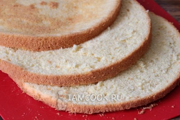 Ванильный бисквит на кипятке рецепт с фото