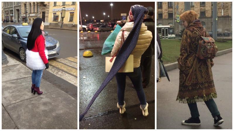 Интеллигентное безумие или странная мода петербургских улиц (21 фото)