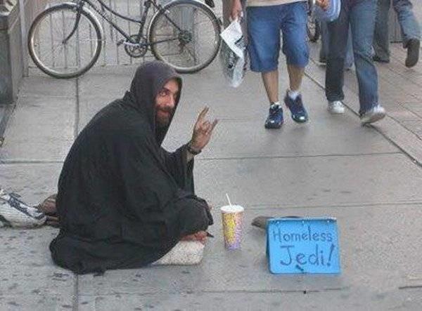 """""""Бездомный Джедай"""" бездомные, креатив, попрошайки"""