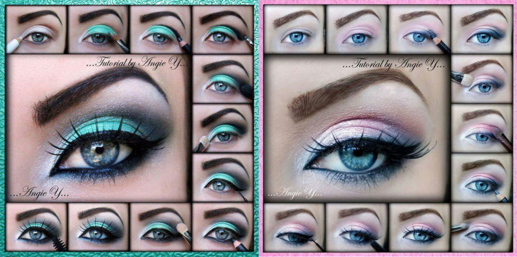 Вечерний макияж пошагово для голубых