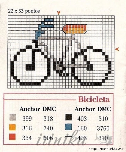 Вышиваем велосипед. Идеи со схемами (12) (424x512, 201Kb)