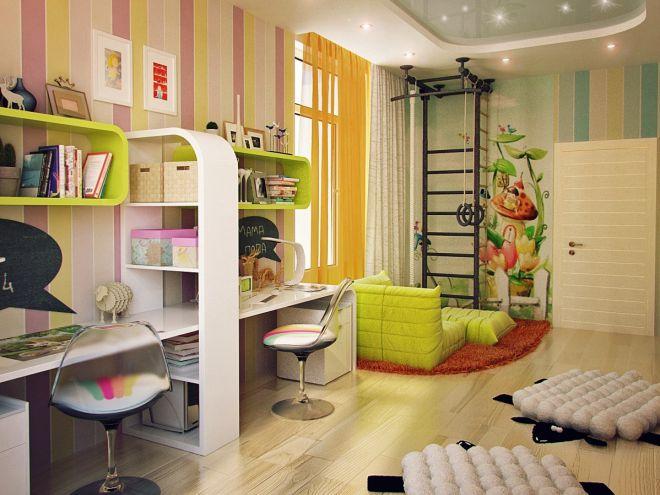 Комната для школьников девочки и мальчика