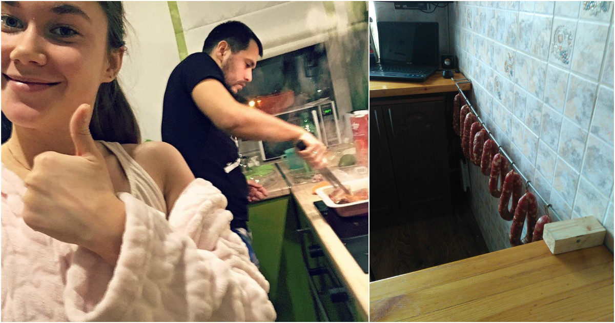 Хорошо, когда дома есть рукастый мужик, который любит поесть! готовка, еда, мужчины, на кухне, умелые руки
