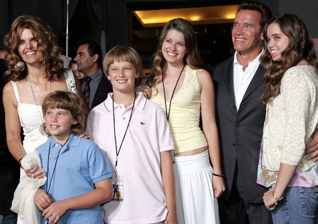 Картинки по запросу arnold schwarzenegger and his family