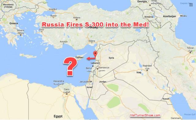 Очевидцы заявляют о предполагаемом пуске ракеты С-300 с базы ВМФ России в Сирии