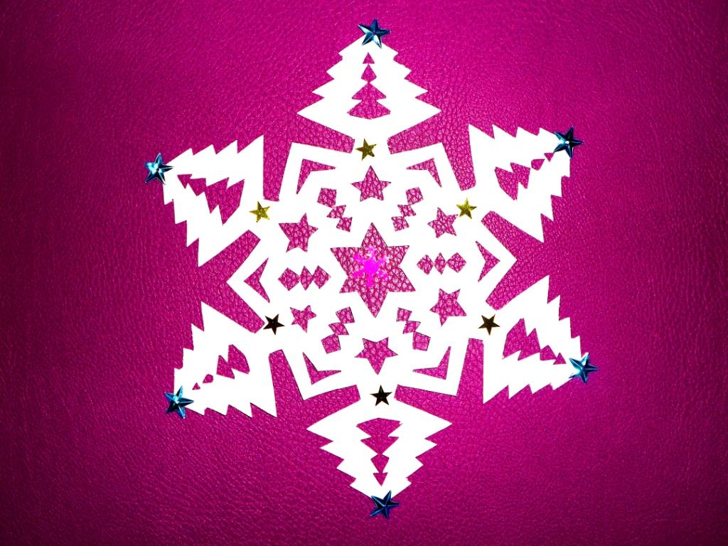 Снежинка из бумаги Новогодни…