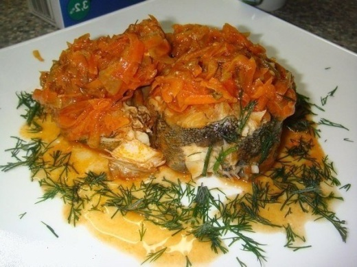 Обалденная рыбка под томатным маринадом