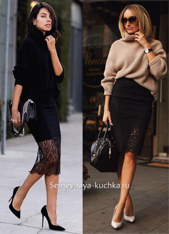 Туника и юбка карандаш