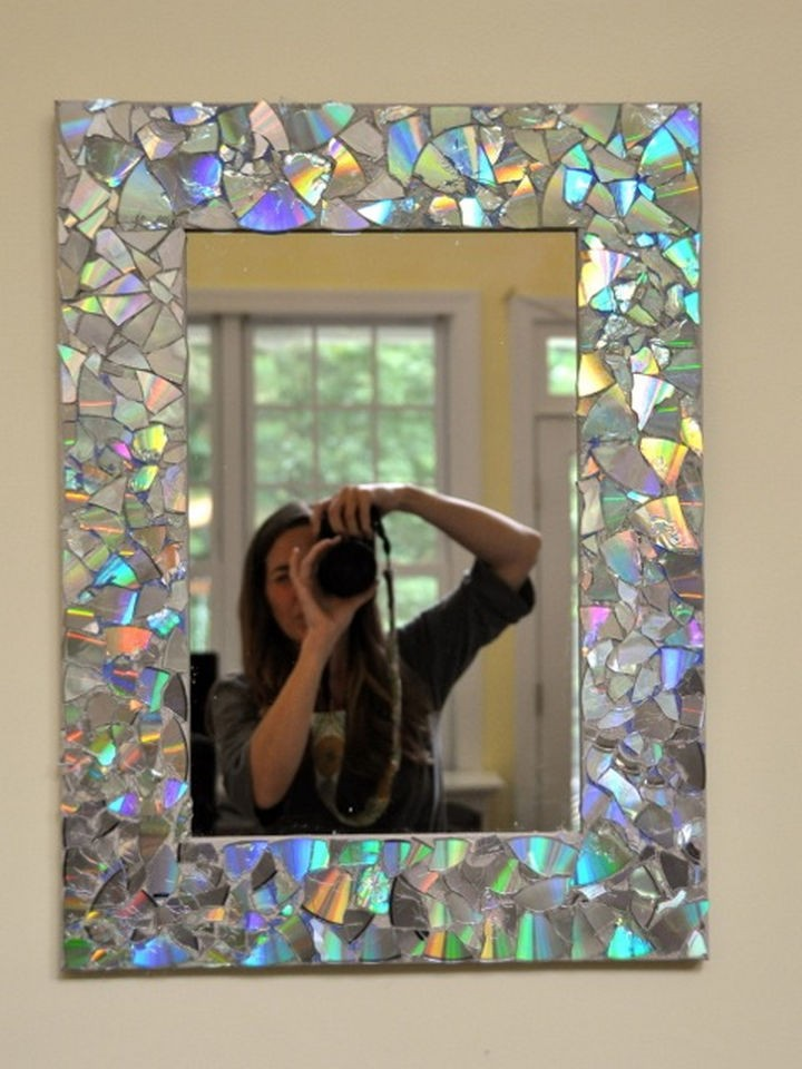 Зеркало диск, своими руками, сделай сам
