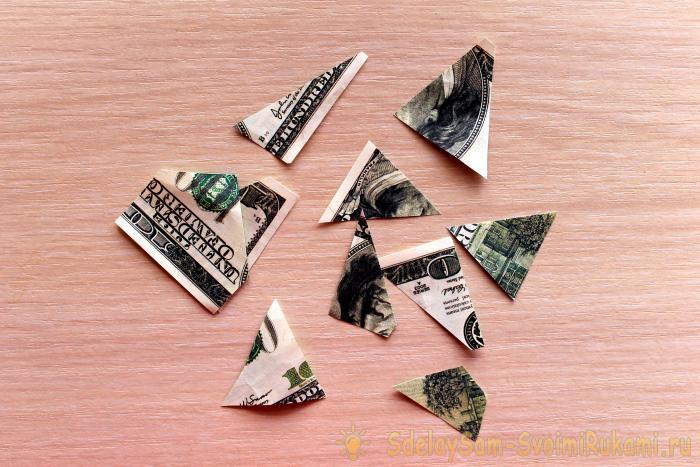 Топиарий из сизаля и денег