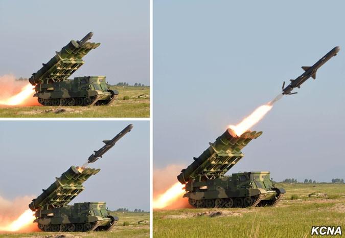 Испытания нового северокорейского ракетного комплекса береговой обороны