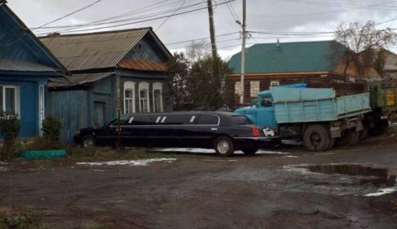 Какая свадьба без лимузина деревенская романтика, деревня, село, смешно, технологии, фото
