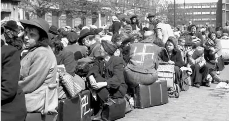 Депортация голых немцев из Чехословакии