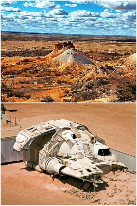 Пейзаж Лунной равнины, возле которой расположен подземный город можно увидеть в фантастических фильмах (Австралия). | Фото: bilbytravel.ru.