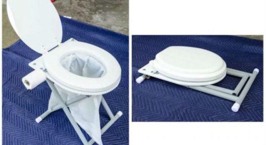 Делаем складной туалет для дачи или кемпинга