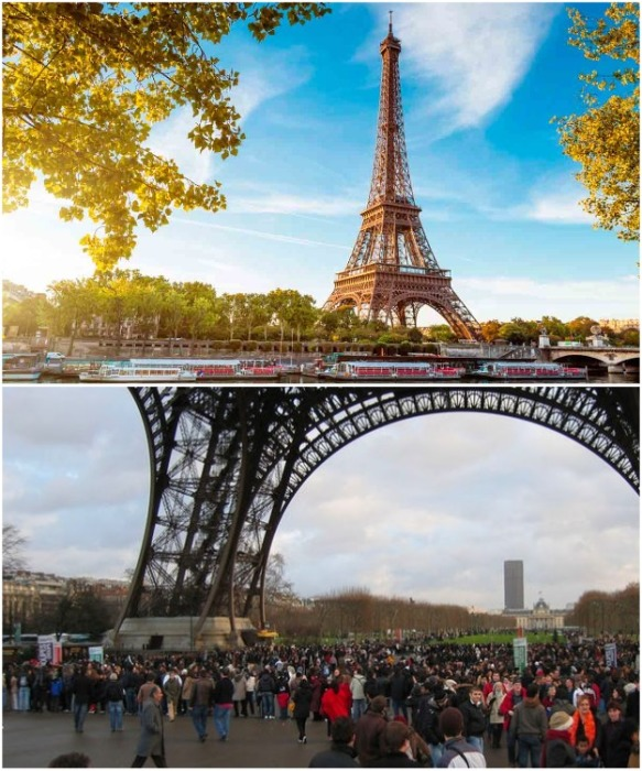 Несмотря на красивую картинку, к которой все привыкли, реальность оказывается совсем уж грустная (Эйфелева башня, Париж). | Фото: lifter.com.ua.
