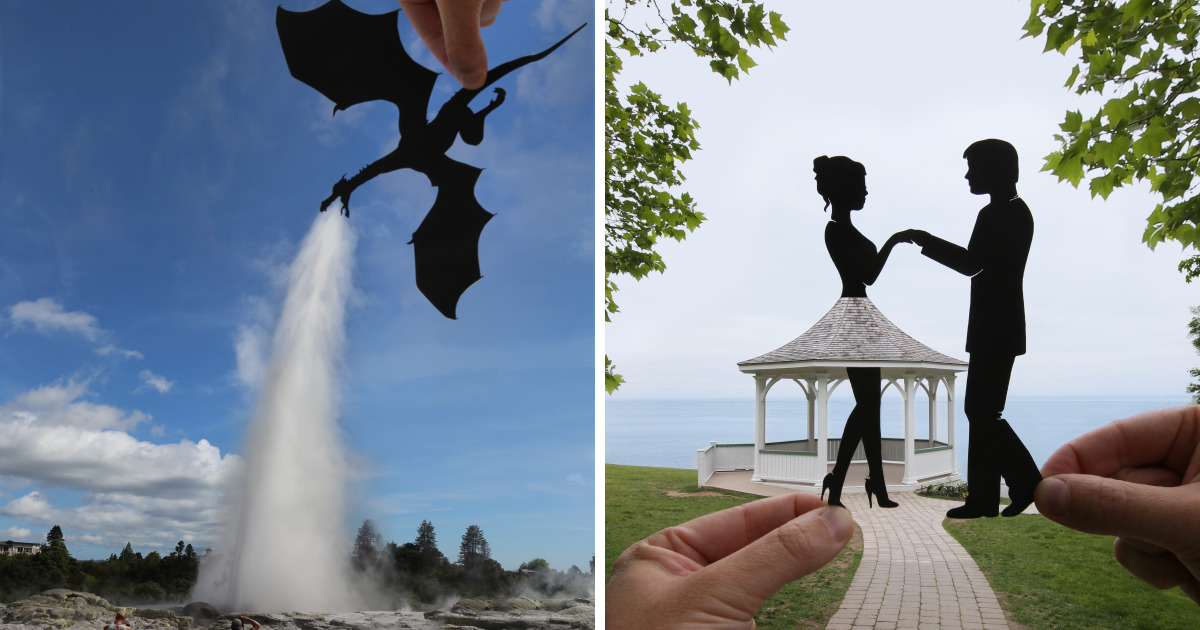I Keep Transforming Famous Landmarks And Random Places Using Paper Cutouts (New Pics)