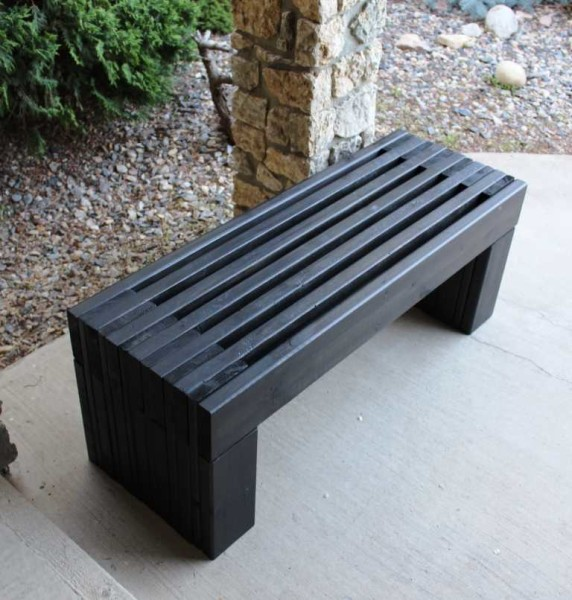 Скамейка в современном стиле