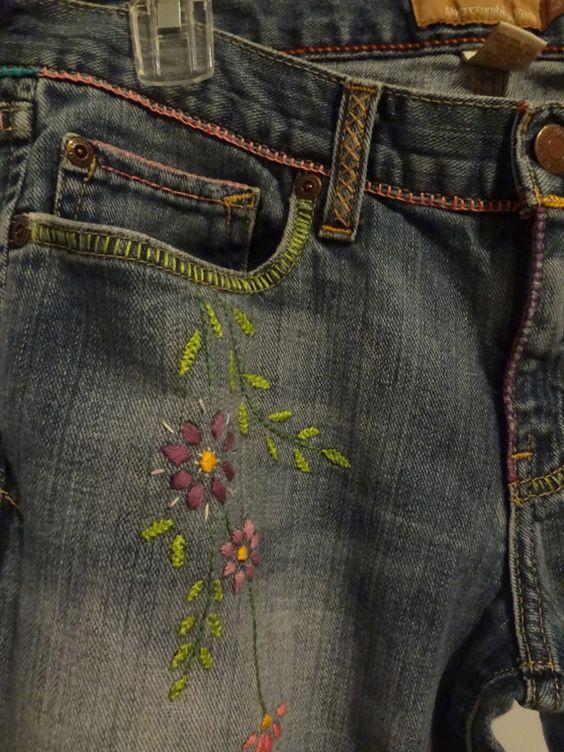 Бохо джинсы - переделка своими руками