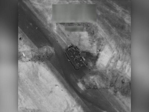 Опубликовано видео удара США по российским наемникам