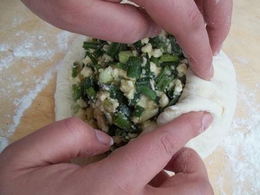 Сванские хачапури с зеленым луком (10)