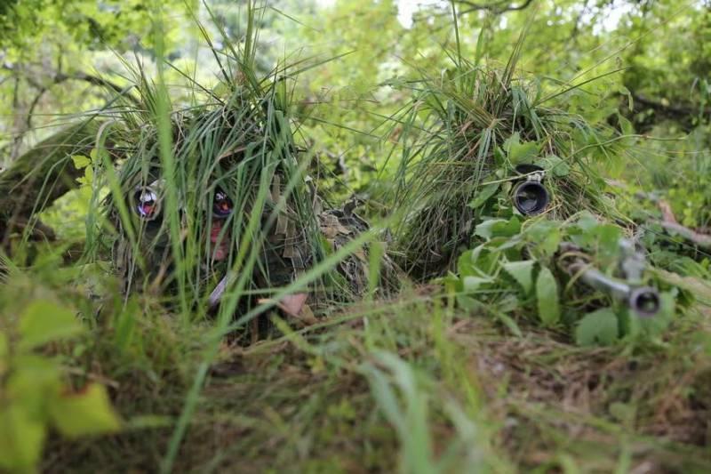 Полевой выход снайперов морской пехоты