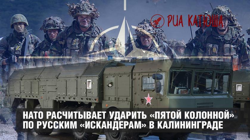 НАТО расчитывает ударить «пятой колонной» по русским «Искандерам» в Калининградской области