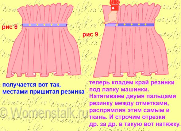 Платье с воланами на талии сшить 928