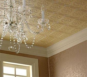 Декорируйте потолок потолочной плиткой